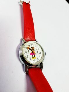 Minnie Mouse watch for women watch for ladies watch Womens Minnie Mouse Watch, Omega Watch, Fingers, Pockets, Watches, Disney, Leather, Etsy, Accessories