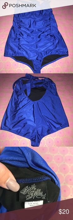 Roch Steady Retro Royal Blue One Piece Swimsuit Gently used Roch Steady Retro Royal Blue One Piece Swimsuit. Very figure flattering and forgiving! Swim One Pieces