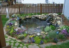 Small backyard pond and other birdbath ideas