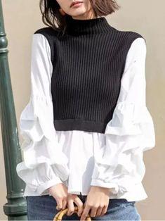 Knit Fashion, Sweater Fashion, Look Fashion, Hijab Fashion, Korean Fashion, Fashion Dresses, Classy Outfits, Beautiful Outfits, Casual Outfits
