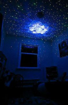 Ceiling sticker mural sky clouds will really make the for Galaxy wand laser