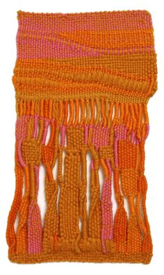 "visualmixtape:    patternbase:Sheila Hicks, Zapallar, 1957-58, wool, 91/4"" x 43/4"""