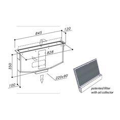 Odsávání z pracovní desky za varnou zónou.( indukce /sklokeramika ) SIRIUS SDD 16 ESSENCE Floor Plans, Diagram, Design, Technology, Simple Lines, Floor Plan Drawing, House Floor Plans