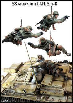 SS Grenadier tank rider in 1/35 scale from Evolution Miniatures