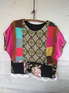 handmade Fabrics, Boho, Blouse, Handmade, Women, Fashion, Scrappy Quilts, Tejidos, Moda
