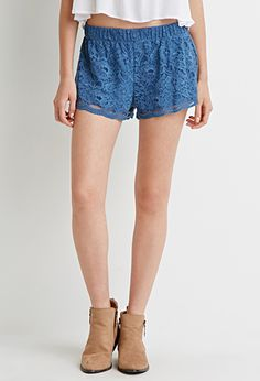 Floral Lace Shorts | Forever 21 - 2000054111