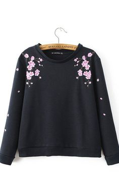 Savannah, Sweatshirts Floral embroidery, Long Sleeve