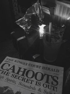 Cocktails. Lots of cocktails. #cahoots