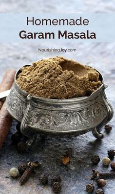 Homemade garam masala is the spice crown jewel of East Indian cuisine and absolutely makes curries SING. This spice blend uses easy-to-find ingredients & mixes up in less than 5 minutes. (spices and herbs garam masala) Homemade Spices, Homemade Seasonings, Spice Mixes, Spice Blends, Indian Dishes, Curry Recipes, Food To Make, Cooking Recipes, Yummy Food