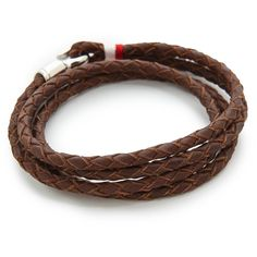 Miansai Trice Woven Leather Wrap Bracelet ($95) ❤ liked on Polyvore featuring men's fashion, men's jewelry, men's bracelets, brown, mens leather braided bracelets and mens brown leather bracelets