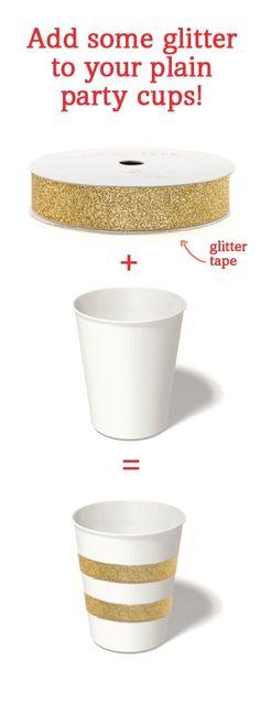 sencilla forma de adornar un vaso