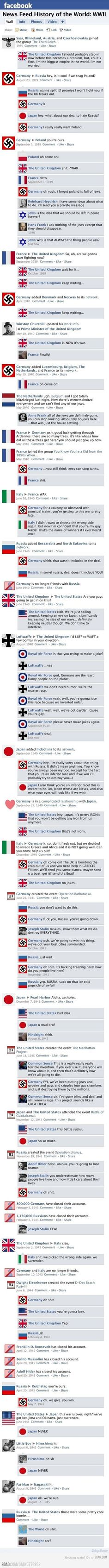 Not my usual style-Inventive to say the least-If Facebook existed during World War WWII