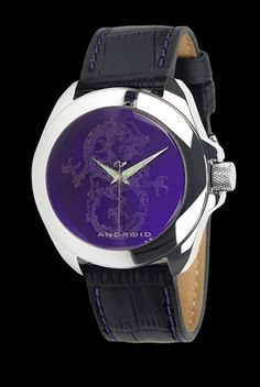 Dragon imprint underneath domed crystal makes this timepiece unique Japanese Miyota quartz movement Luminous hour and minute hands for easy reading Genuine leather strap with quick change pins