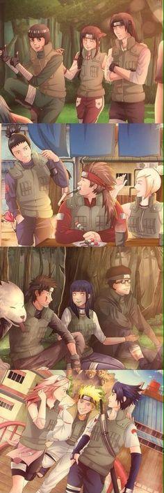 The original squads of Naruto