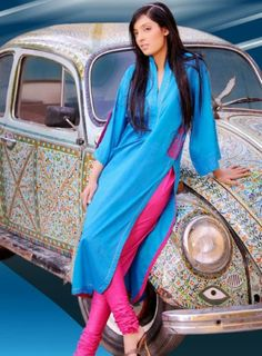 Indian Designer Dresses 2014 | Indian Long Shirts with Jeans 2014 for Girls