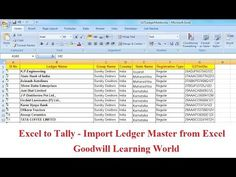 Excel to Tally - Import Ledger Master from Excel : Tally TDL for Excel . Pastel Accounting, Accounting And Finance, Periodic Table, Ads, Free, Periodic Table Chart, Periotic Table