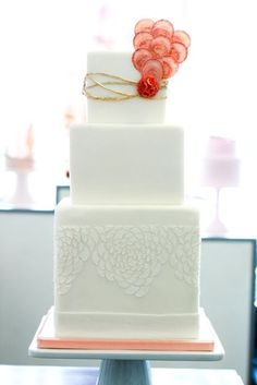 loving this modern design. | wedding cakes