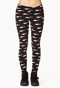 Shark leggings - Forever 21 I have these leggings! Shark Leggings, Print Leggings, Shark Bait, Shark Shark, Shark Clothes, Nordstrom Jeans, Cool Style, My Style, Chanel