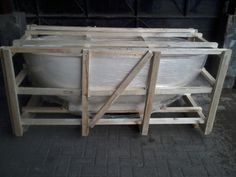 Terrazzo Bathtub in wooden packaging