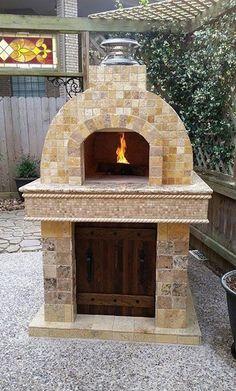Wood Fired Outdoor Pizza Oven by BrickWood Ovens by patrica Forno a lenha para pizza ao ar livre por BrickWood Fornos por patrica