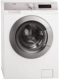 Buy AEG Protex Drum Freestanding Washing Machine White With Silver Control Panel from Appliances Direct - the UK's leading online appliance specialist Bitcoin Litecoin, I Shop, Home Appliances, Washing Machines, Products, Washing Machine, Technology, House Appliances