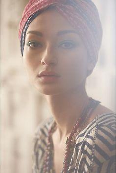 Bruna Tenorio for Anthropologie Catalog 2011 Simply Beautiful, Beautiful People, Skin Girl, Trendy Mood, Bild Tattoos, We Are The World, Portrait Inspiration, Pretty Face, Head Wraps