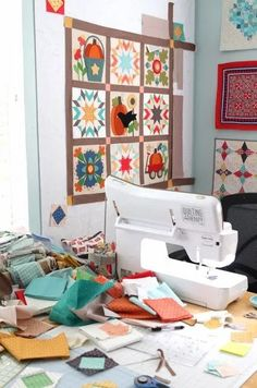 Baby Lock Crescendo sewing machine My Sewing Room, Sewing Rooms, Baby Lock Sewing Machine, Pebble Color, Sewing Table, Wool Applique, Sewing Machines, Quilt Making, Wall Design