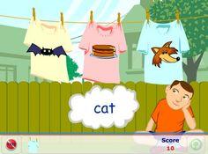 Washing line rhyming game Learning Phonics, Teaching, Rhyming Games, Time Games, Phonological Awareness, Preschool, Activities, Ideas, Kid Garden