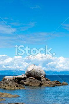 Split Apple Rock, Abel Tasman National Park, New Zealand Royalty Free Stock Photo