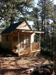 This 160 sq. ft. bed and breakfast cottage in the Colorado forest is a guest post by Lynn Schriner. – share yours!  We have a tiny cottage bed and breakfast for glam-camping called The Nest. …