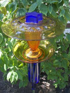 Glass Bird Feeder