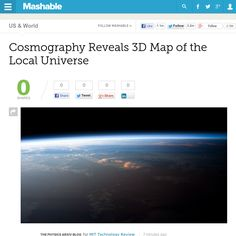 http://mashable.com/2013/06/05/cosmography-3d-map-universe/ Cosmography Reveals 3D Map of the Local Universe | #Indiegogo #fundraising http://igg.me/at/tn5/