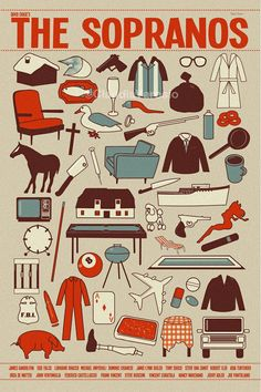 Sopranos - Minimal TV Series Poster by Claudia Varosio