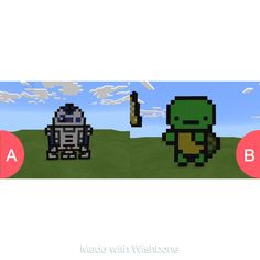 Which is your favorite pixel pic?? Tap to vote http://sms.wishbo.ne/U1ak/xF3QEr816s