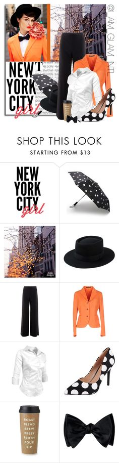 """""""New York City Girl #199"""" by negritajr ❤ liked on Polyvore featuring WALL, Kate Spade, Armani Collezioni, Tagliatore and Charles by Charles David"""