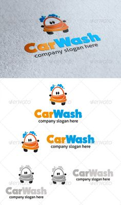 Car Wash Logo  #GraphicRiver         car wash logo is orange car with the blue bubble image. this logo is suited for carwash business    All in the package : - Ai, EPS, PSD files - CMYK color mode - 100% vector file fully editable - Easy to edit text/fonts    Free fonts we use:    .dafont /nougat.font   .fontsquirrel /fonts/Aller   Please rate if you buy and feels free to message me if you need to edit this item.    Thank you..       Created: 15May13 GraphicsFilesIncluded: