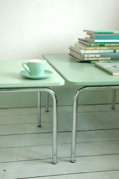 Mint Green Table by LOVEMILY