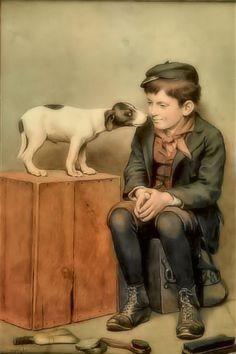 The Shoeshine - John George Brown (British and American, 1831-1913)