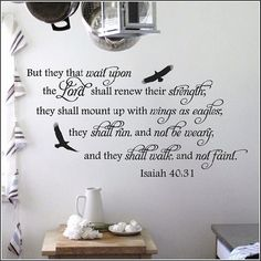 Isaiah 4031 Wings Like Eagles Vinyl Wall Decal by AGreatImpression, $45.00
