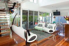 #modern #lounge #room #hardwood