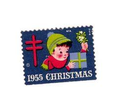 1955 Christmas stamp.