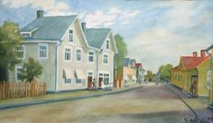 Kalle Aaltonen: Kauppakatu, Forssa, öljymaalaus, 1938