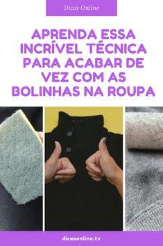 Remover bolinhas da roupa