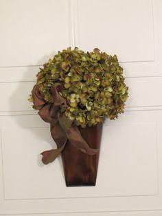 Green & Brown ~ Front Door Hydrangea Wreath