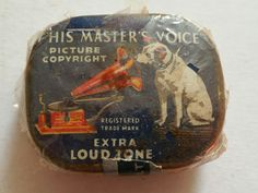 Vintage His Masters Voice extra loud tone needle tin & contents His Masters Voice, Contents, Metals, Silver Plate, The Voice, Tin, Ebay, Vintage, Silverware Tray