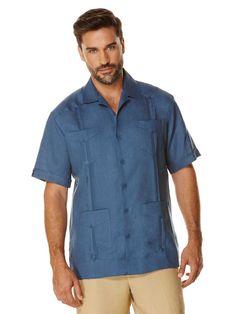 #FashionVault #perry ellis #Men #Tops - Check this : Cubavera 100% Linen Short Sleeve Classic Guayabera for $59.99 USD