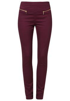 Pantalón de tela - Vero Moda Zalando ♥ Burdeos