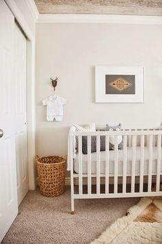 We love this neutral nursery decor!