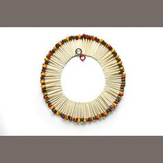 A vintage Bakelite hand-painted matchstick necklace attributed to Martha Sleeper, from the Susan K. Freeman collection. Sold for US$ 4,880 including premium. --- It is said that Ms. Freeman collected Bakelite for 40 years ... a great investment, yes? :-)