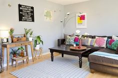 Candice and Jason's Colorful, Light Filled Apartment — House Tour   Apartment Therapy